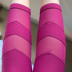 Chevron Mesh Crop leggings
